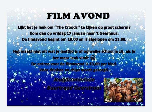 Filmavond bij Buurtraad Geerstraat in 't Geerhuus