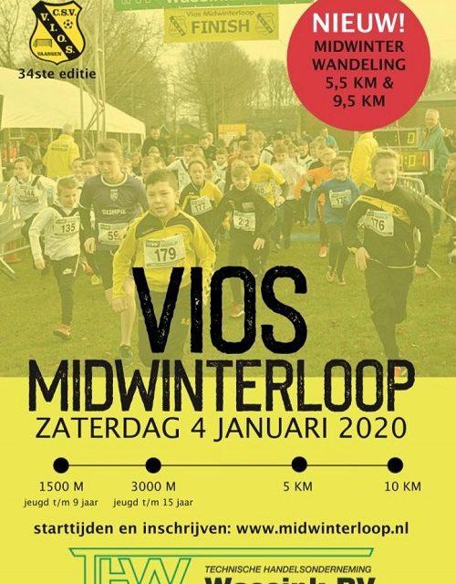 Midwinterloop én Midwinterwandeling op 4 januari 2020 bij c.s.v. VIOS Vaassen