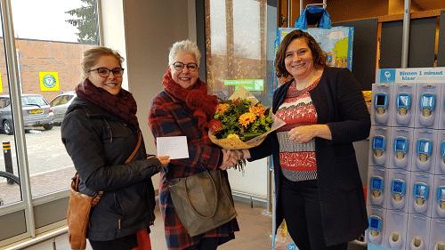 Eerste prijswinnaar bekend van de spaaractie voor het VFC bij de Albert Heijn Vaassen