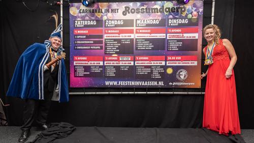 Tijdens Prinsenbal presenteren Rossumdaerpers het programma van carnaval 2020