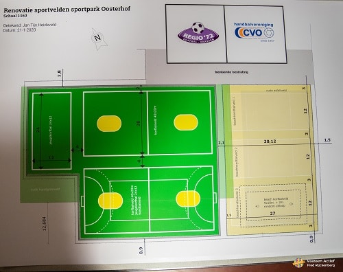 Inloop nieuwe sportpark Oosterhof