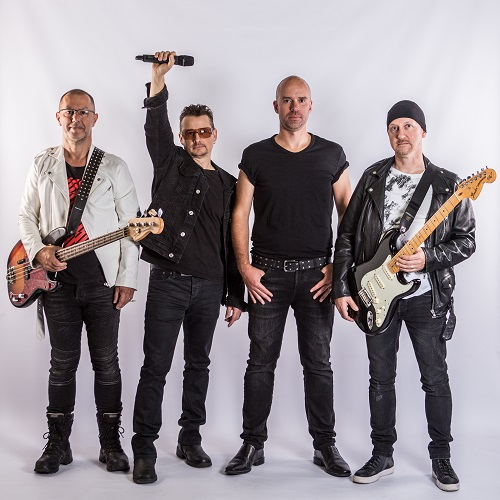 Coverband U2be uit België komt zaterdag 15 februari a.s.naar Blue Sky in Emst.