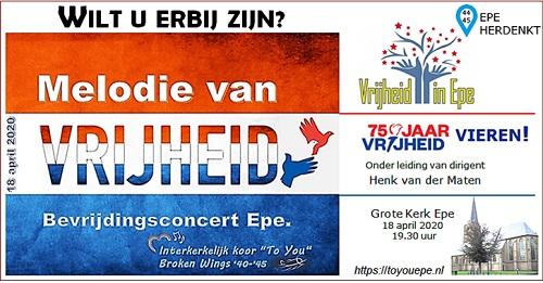 """Concert: """"MELODIE VAN VRIJHEID"""""""