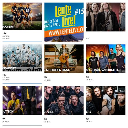 Lente Live 2020 vrijdag 3 t/m zondag 5 april