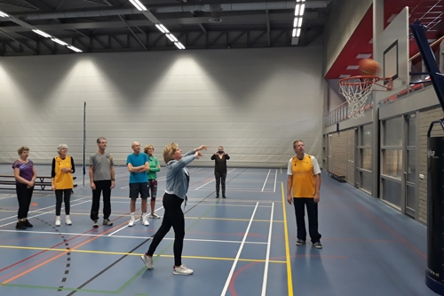 Succesvolle start OldStars walking basketball in Epe