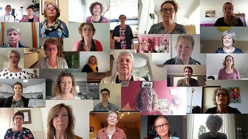 Virtuele koor Vrouwenpopkoor Nenoni uit Vaassen