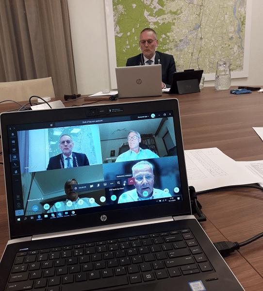 Eerste digitale raadsvergadering in Epe