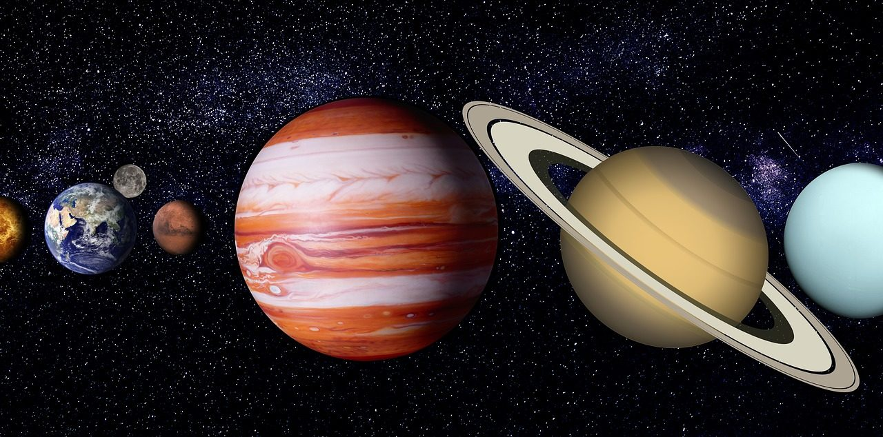 Mars en onze Maan