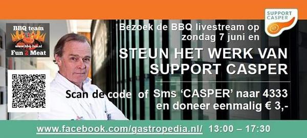 """Vaassense BBQ team """"fun2meat""""  doet mee aan de eerste landelijke online bbq-wedstrijd."""