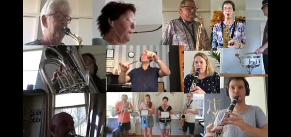 Muziekvereniging Prins Bernhard uit Emst heeft online gemusiceerd. Deel 2