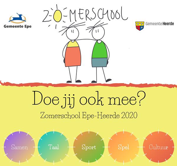 Volgende maand Zomerschool voor kinderen uit Epe en Heerde