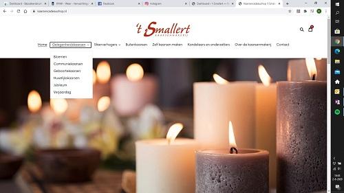 Kaarsenmakerij 't Smallert zet de nieuwe webshop online