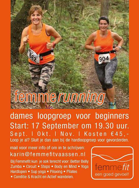 Femmefit Vaassen start 17 september met loopgroep voor beginners!