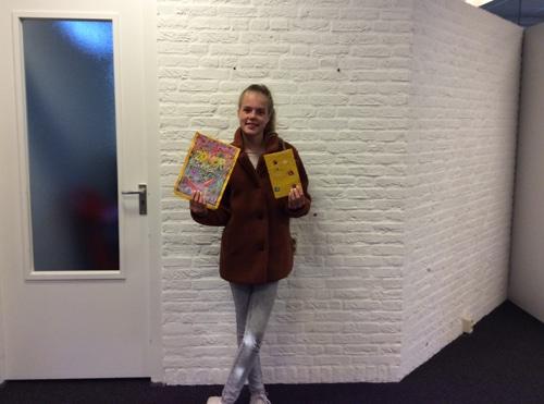 Prijswinnaar kleurwedstrijd Bibliotheek Vaassen