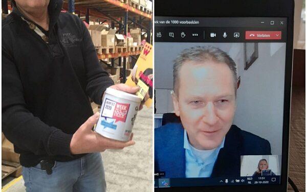 Wethouder Visser bedankt sociaal ondernemer Dulimex