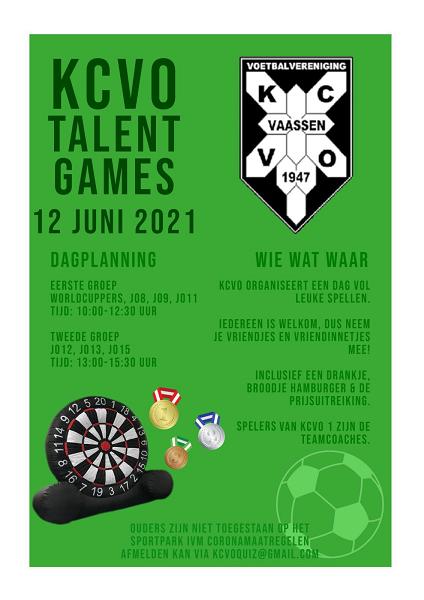Kom ook naar KCVO's Talent Games zaterdag 12 juni!