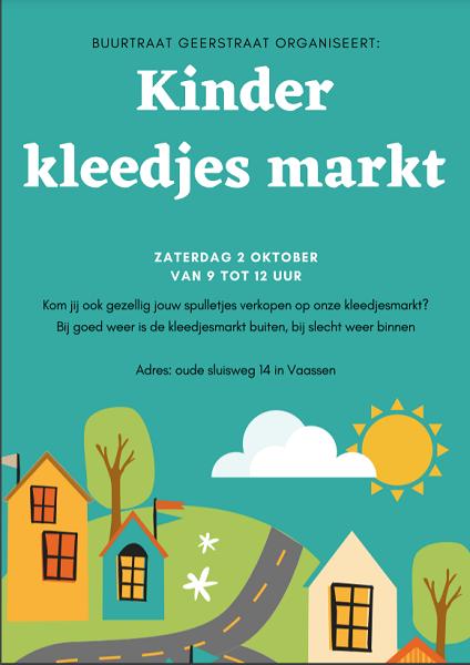 Buurtraad Geerstraat organiseert een Kleedjesmarkt!